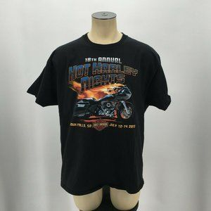 Hanes Beefy VTG T Shirt Tee 18th Annual Hot Harley